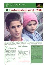 HUSinformation nr. 4 - 2006 - europeanhouse.org