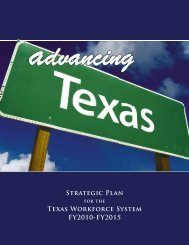 Advancing Texas: Strategic Plan for the Texas Workforce System
