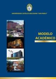 Modelo Académico - La Paz - Universidad Católica Boliviana