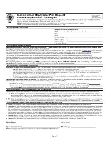 Repayment Plan Selection Form  Cornerstone