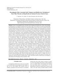 Fauna of mesostigmatic mites associated with Coleoptera ... - Idosi.org