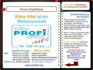 Web-Kurzpräsentation: Klino-Vital ist ein Medizinprodukt