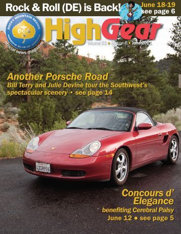 High Gear - Rocky Mountain Region Porsche Club - Porsche Club of ...