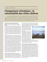 Changement climatique : la vulnérabilité des villes côtières - CMI