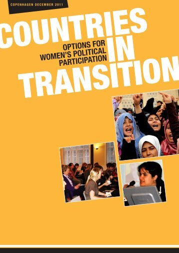 Countries in Transition – Options for Women's Political Participation