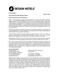 Press Release April 12, 2012 - Design Hotels