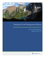 ILMB Service Plan Summary Brochure - Integrated Land ...