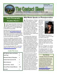 PSC February 2012 Newsletter - Photographic Society of Chattanooga