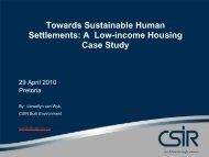 Towards Sustainable Human Settlements: A Low ... - Alive2green