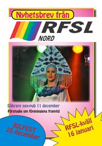 Öppna/ladda hem nyhetsbrevet som PDF - RFSL