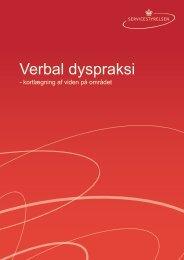 Verbal dyspraksi - Servicestyrelsen
