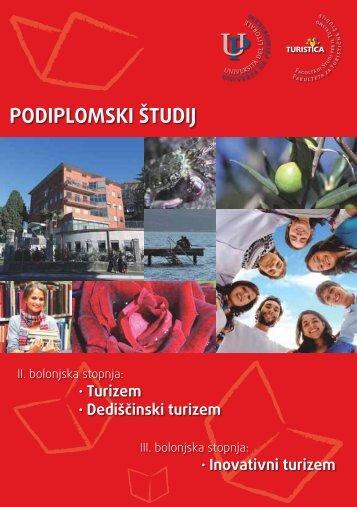 Predstavitev študijskih programov 2. in 3. stopnje - Turistica