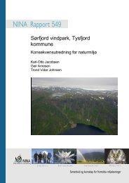 Sørfjord vindpark, Tysfjord kommune - NINA