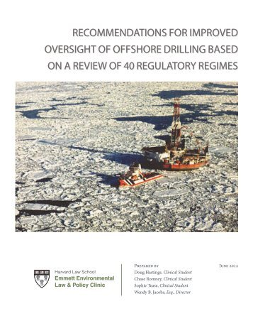 Recommendations for Improved Oversight of Offshore Drilling Based ...