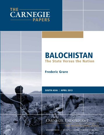 BALOCHISTAN - Carnegie Endowment for International Peace