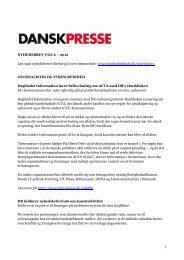 Nyhedsbrevet Dansk Presse nr. 6 - Danske Dagblades Forening