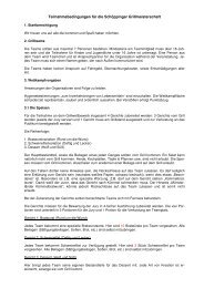 Teilnahmebedingungen für die Schöppinger Grillmeisterschaf–