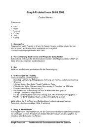 StugA-Protokoll vom 26.06.2009 - StugA Geowissenschaften der ...