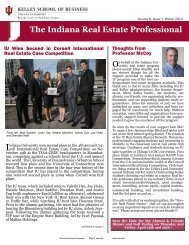 Winter 2013 Newsletter - Kelley School of Business - Indiana ...