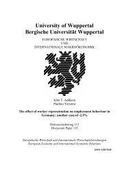 University of Wuppertal Bergische Universität Wuppertal - EIIW