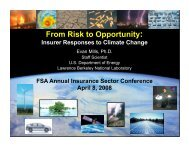 Insurer Responses to Climate Change - Evan Mills - Lawrence ...