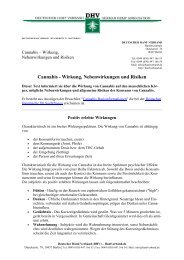 Cannabis- Wirkung, Nebenwirkungen und Risiken - des Deutschen ...