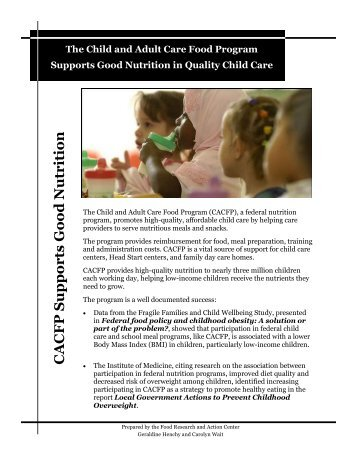 CACFP Fact Sheet non annotated - Food Research and Action Center