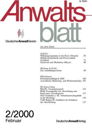 Heft 2 65-144 - Anwaltsblatt