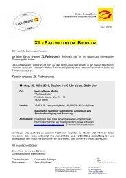 XL-FACHFORUM BERLIN - Elektro-Innung Berlin