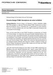 Presse-Information Porsche Design P'9981 Smartphone ab sofort ...