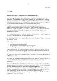 Vermerk zu 20 Jahre Nunn-Lugar Cooperative Threat ... - Uta Zapf