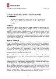 En förskola och skola för alla – en inkluderande lärandemiljö - Mölndal