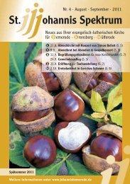 Heft Aug. 2011 - Sep. 2011 - St. Johannis Bemerode