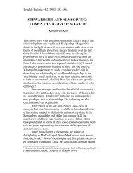stewardship and almsgiving: luke's theology of ... - Tyndale House
