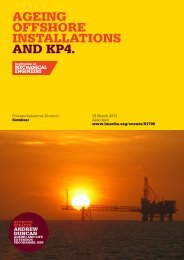 AGEING OFFSHORE INSTALLATIONS AND KP4. - Energy Institute