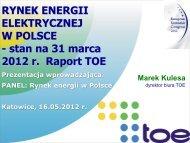 stan na 31 marca 2012 r. Raport TOE - p.wnp.pl