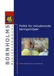 Politik for inkluderende læringsmiljøer - Bornholms Regionskommune