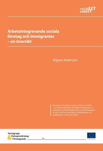 Arbetsintegrerande sociala företag och immigranter – en ... - Sofisam
