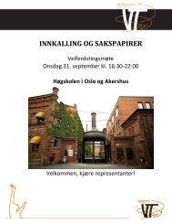 INNKALLING OG SAKSPAPIRER - Velferdstinget i Oslo og Akershus