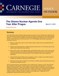 The Obama Nuclear Agenda One Year After Prague - Carnegie ...