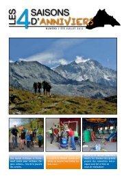 Numéro 7 été juillet 2012 - Commune d'Anniviers