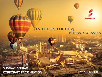 In the SpotLIGHT @ Bursa Malaysia SUNWAY ... - ChartNexus