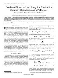 Combined Numerical and Analytical Method for Geometry ...