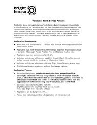 Volunteer Youth Service Awards - Bright House Networks