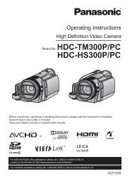 Model No. HDC-TM300P/PC HDC-HS300P/PC