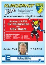 Stadionheft Nr. 01 - SV Neukirchen