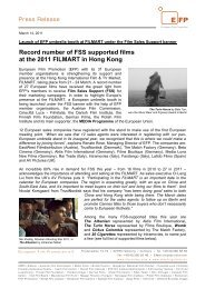 Record number of  FSS supported films at the 2011 FILMART in ...