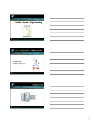 J2ME architecture - Mobile Devices
