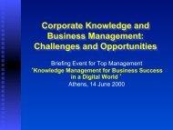 Knowledge - Information Management Unit