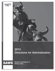 SAWS Direction for Administration - Wyoming Statewide ...